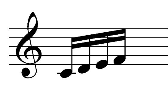C-D-E-F 16th notes