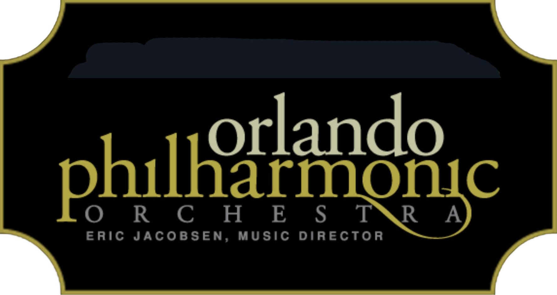Orlando Philharmonic logo in ticket shape