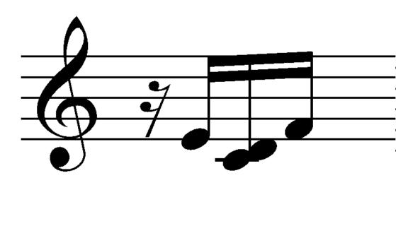 16th rest -E-CD-F 16th notes