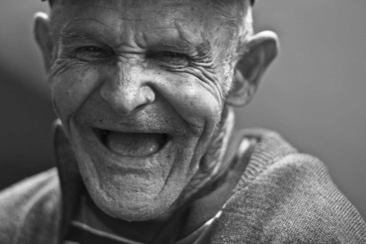 Practicing Happiness old man